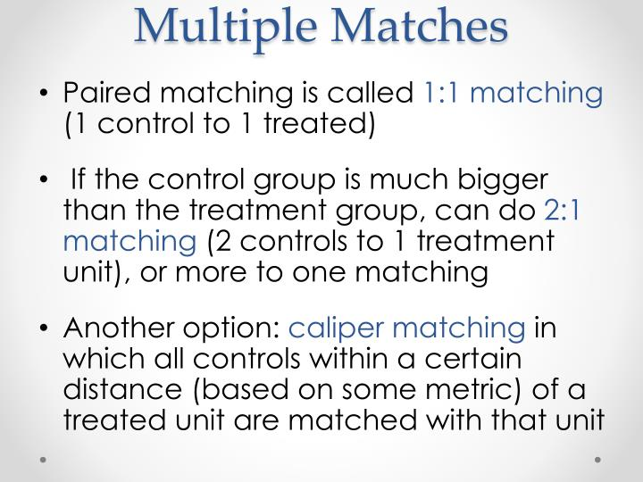 Multiple Matches