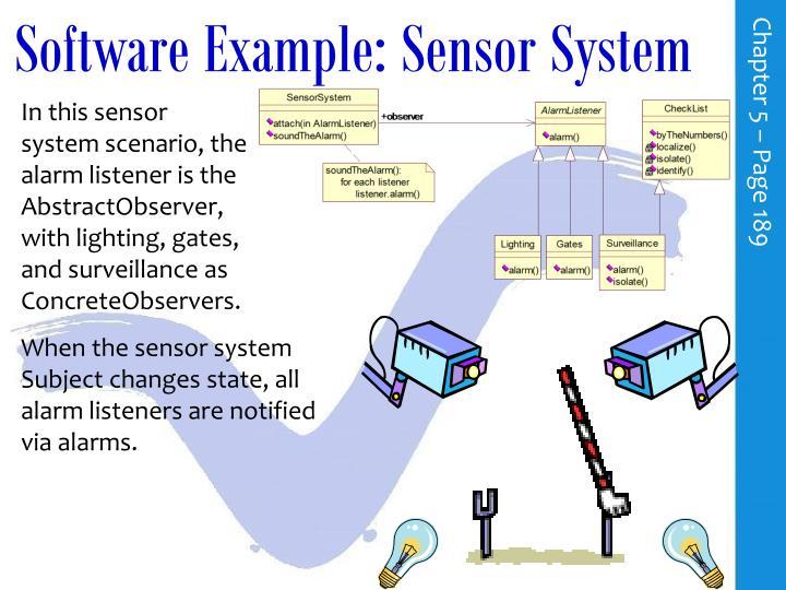 Software Example: Sensor System
