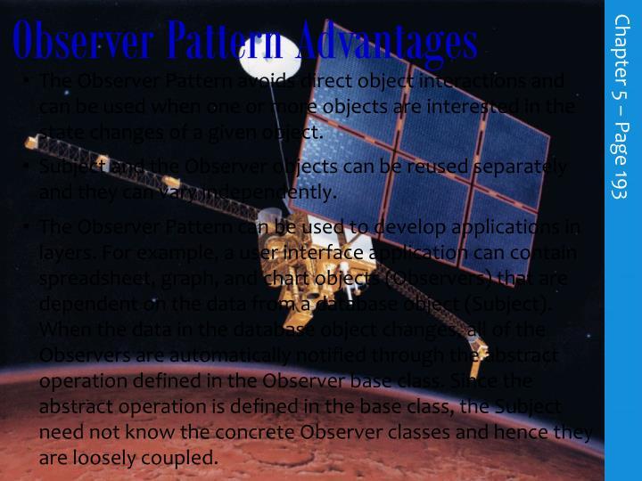 Observer Pattern Advantages