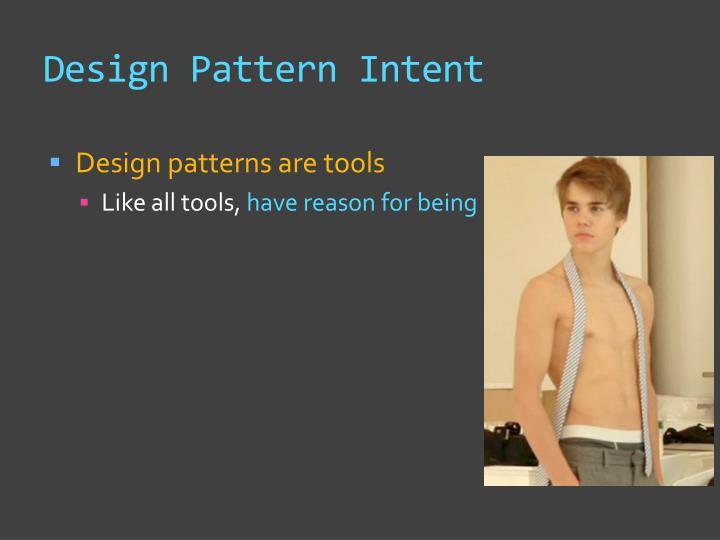Design Pattern Intent