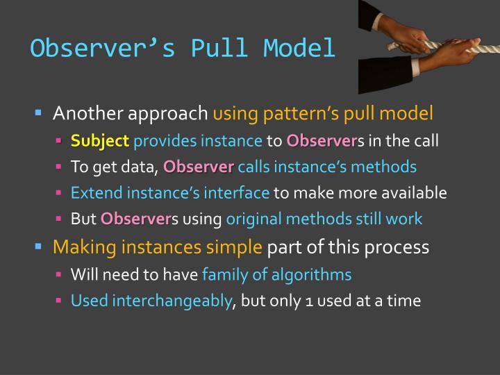 Observer's Pull Model