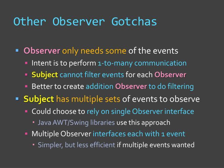 Other Observer