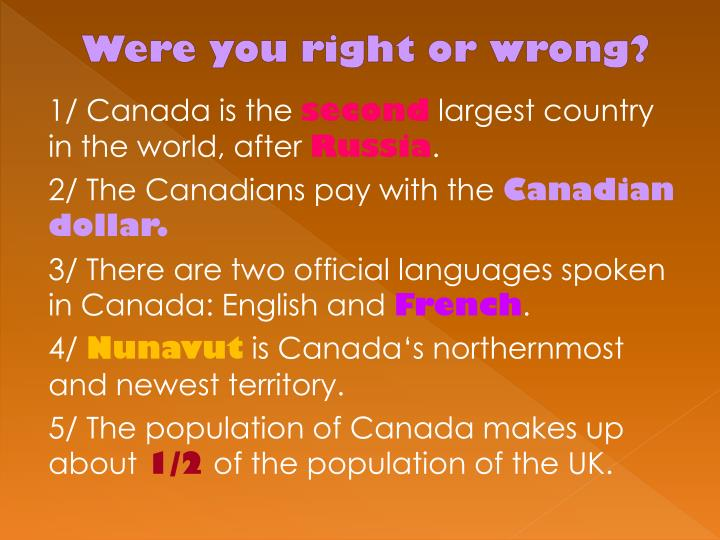 Were you right or wrong?