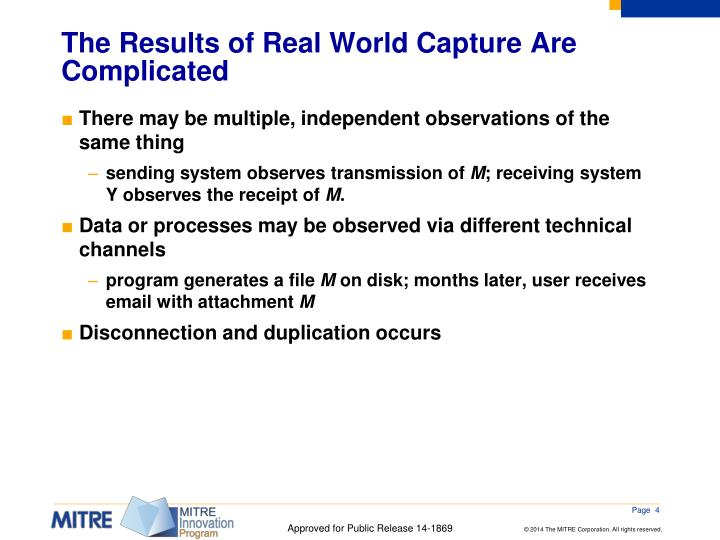 The Results of Real World Capture Are