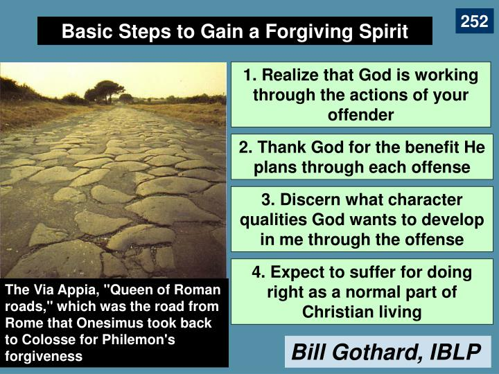 Basic Steps to Gain a Forgiving Spirit