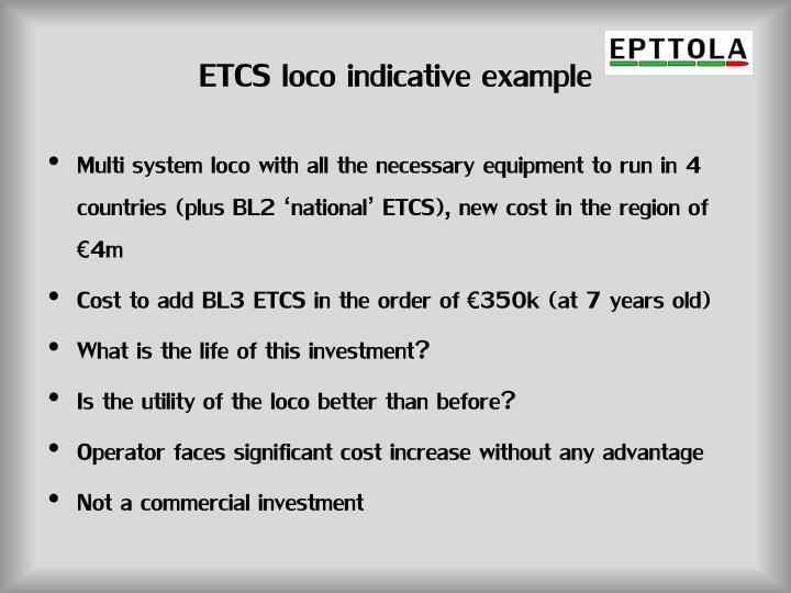 ETCS loco