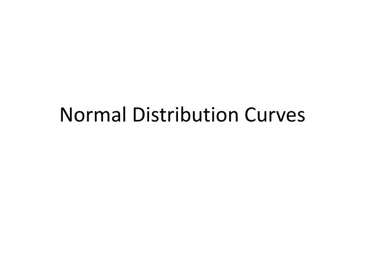 normal distribution curves n.