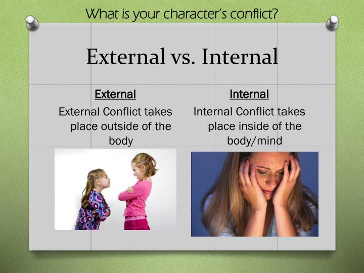 What is your character's conflict?
