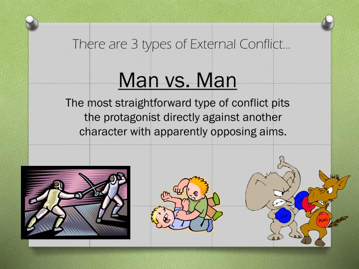 There are 3 types of External Conflict…