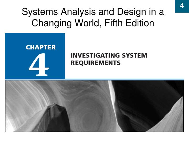 Systems analysis and design in a changing world fifth edition