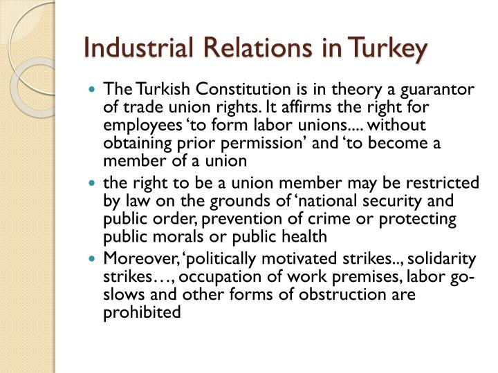 Industrial relations in turkey