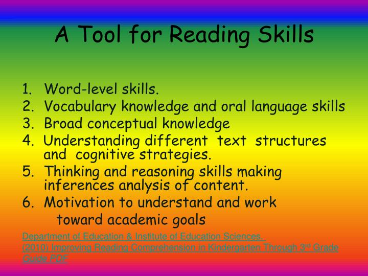 A Tool for Reading Skills