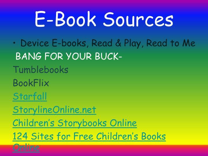 E-Book Sources