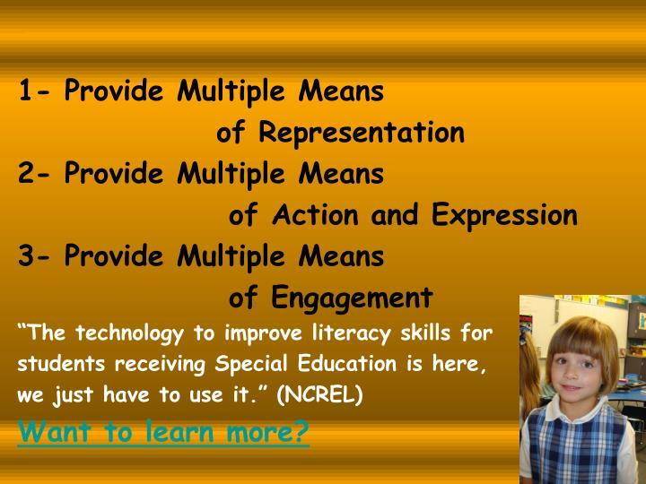 1- Provide Multiple Means