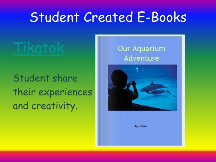 Student Created E-Books