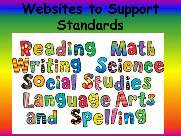 Websites to Support Standards