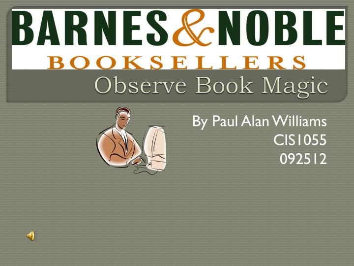 observe book magic n.