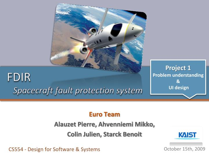 Fdir spacecraft fault protection system