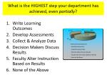 what is the highest step your department has achieved even partially