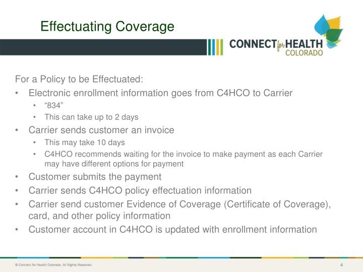 Effectuating Coverage