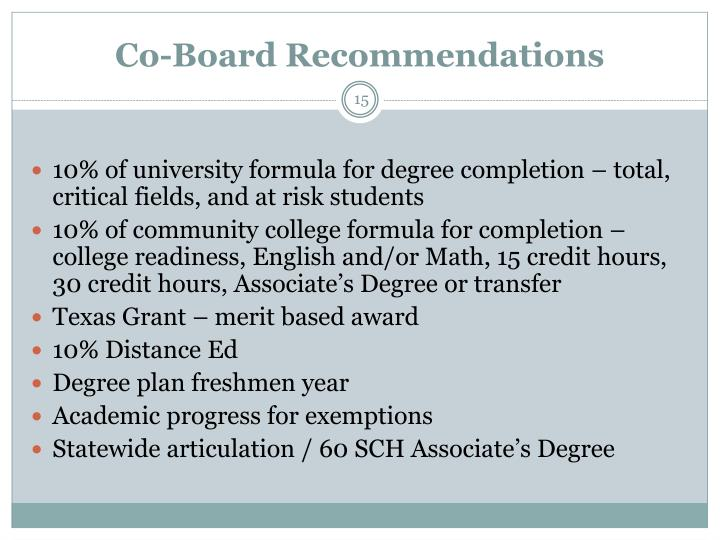 Co-Board Recommendations