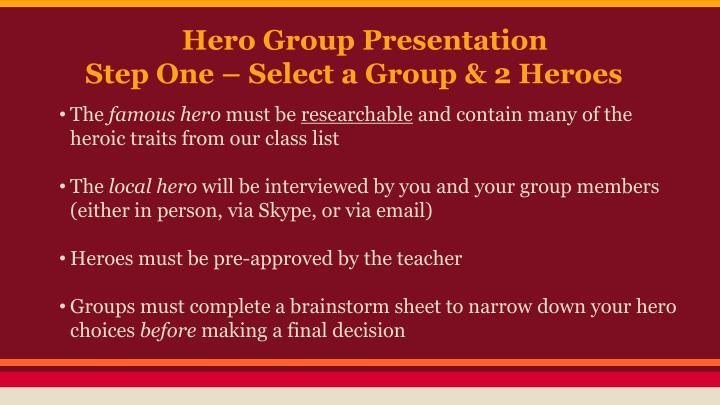 Hero Group Presentation