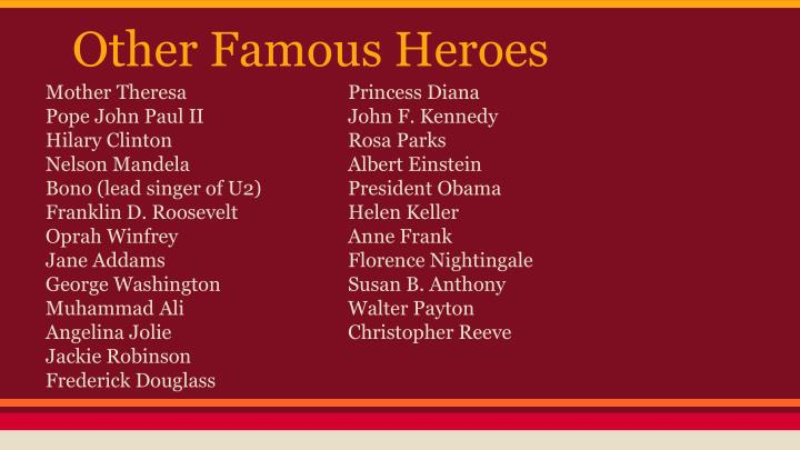 Other Famous Heroes