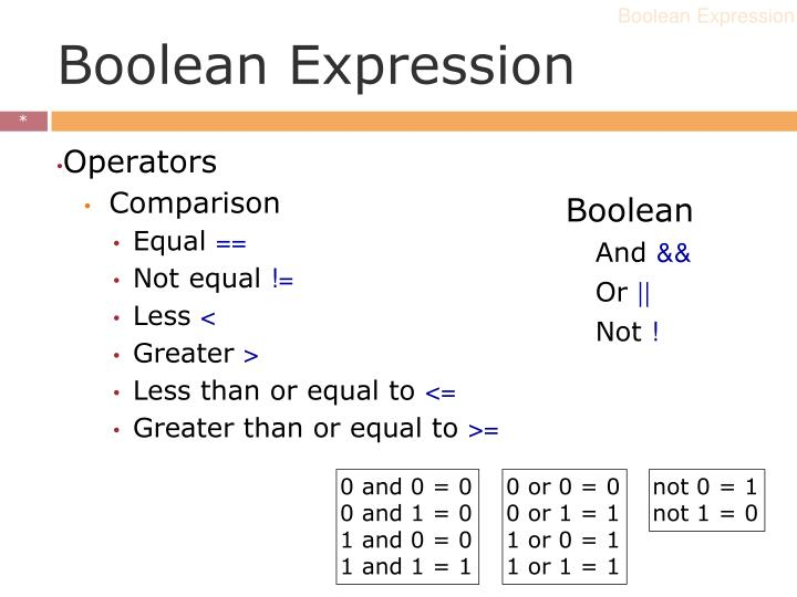 Boolean Expression