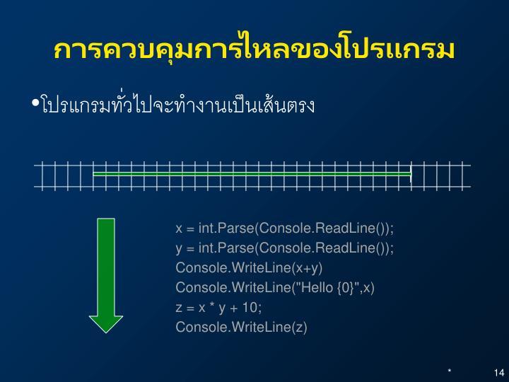 การควบคุมการไหลของโปรแกรม