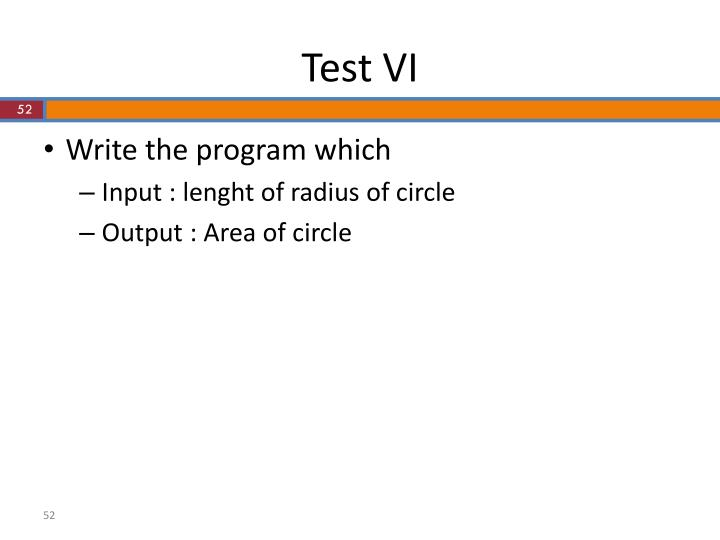 Test VI