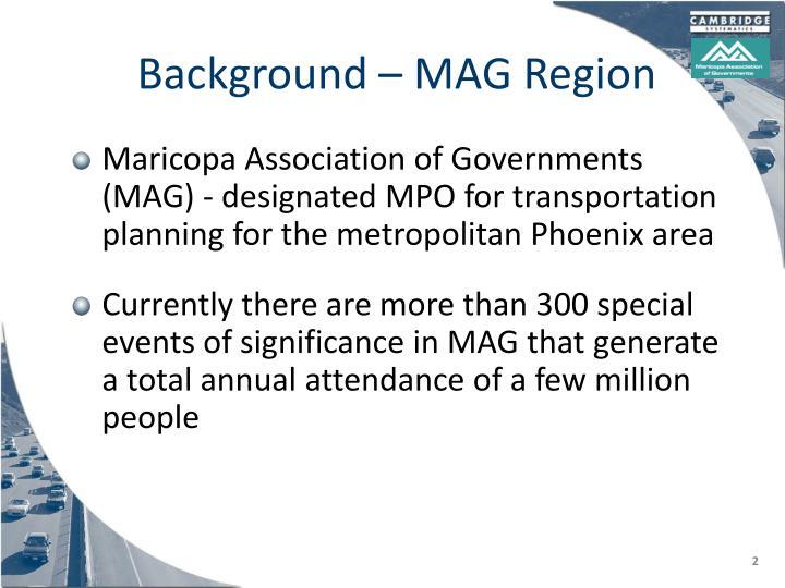 Background mag region