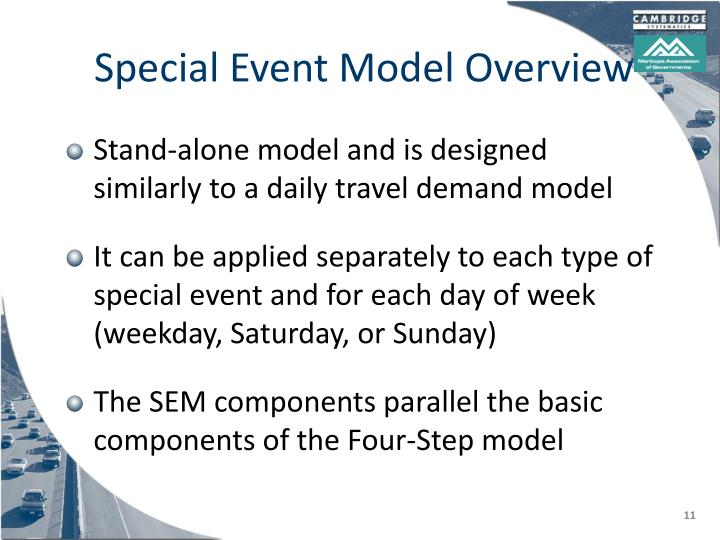 Special Event Model Overview