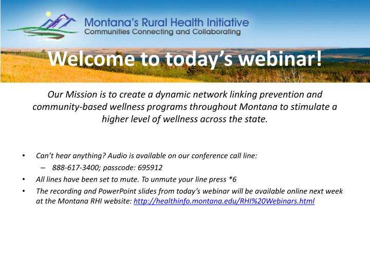 welcome to today s webinar n.