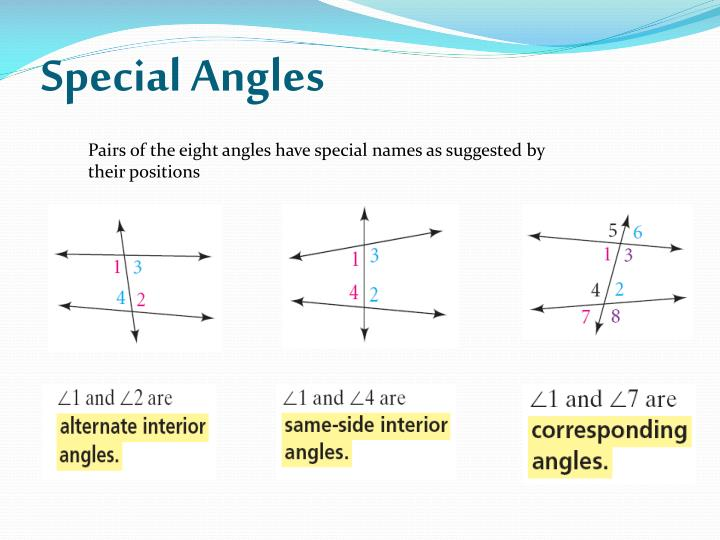 Special Angles