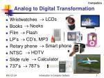 analog to digital transformation