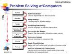 problem solving w computers