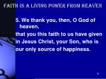 faith is a living power from heaven2