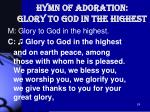 hymn of adoration glory to god in the highest