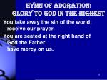 hymn of adoration glory to god in the highest2