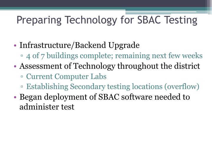 Preparing Technology for SBAC Testing