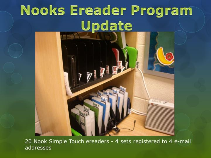 Nooks ereader program update