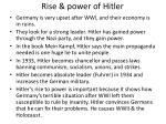 rise power of hitler