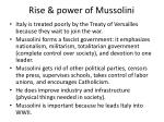 rise power of mussolini