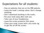 expectations for all students