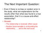 the next important question1