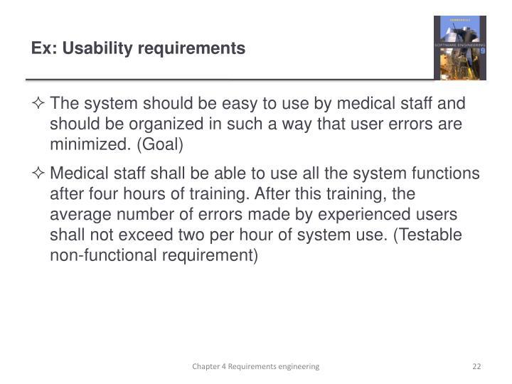 Ex: Usability