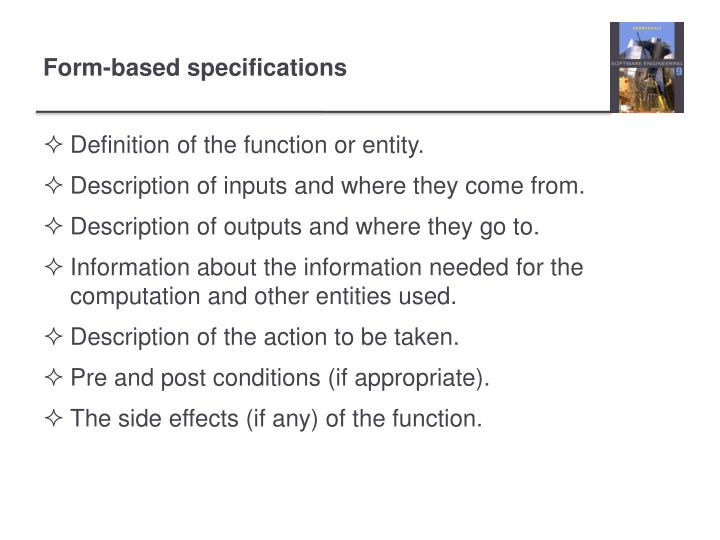 Definition of the function or entity.