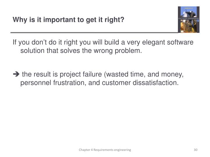 Why is it important to get it right?