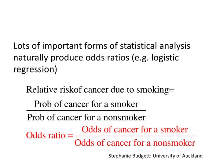 Lots of important forms of statistical