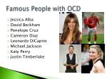 famous people with ocd